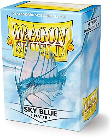 Matte Dragon Shield Standard Size Card Protector Sleeves MTG 100ct Clear Blue