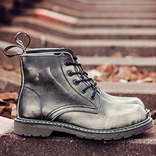 da da Uomo da Tacco grigio grigio Scarpe con OEMPD Stivali da Largo Scarpe Uomo Uomo AfBRxx5qw