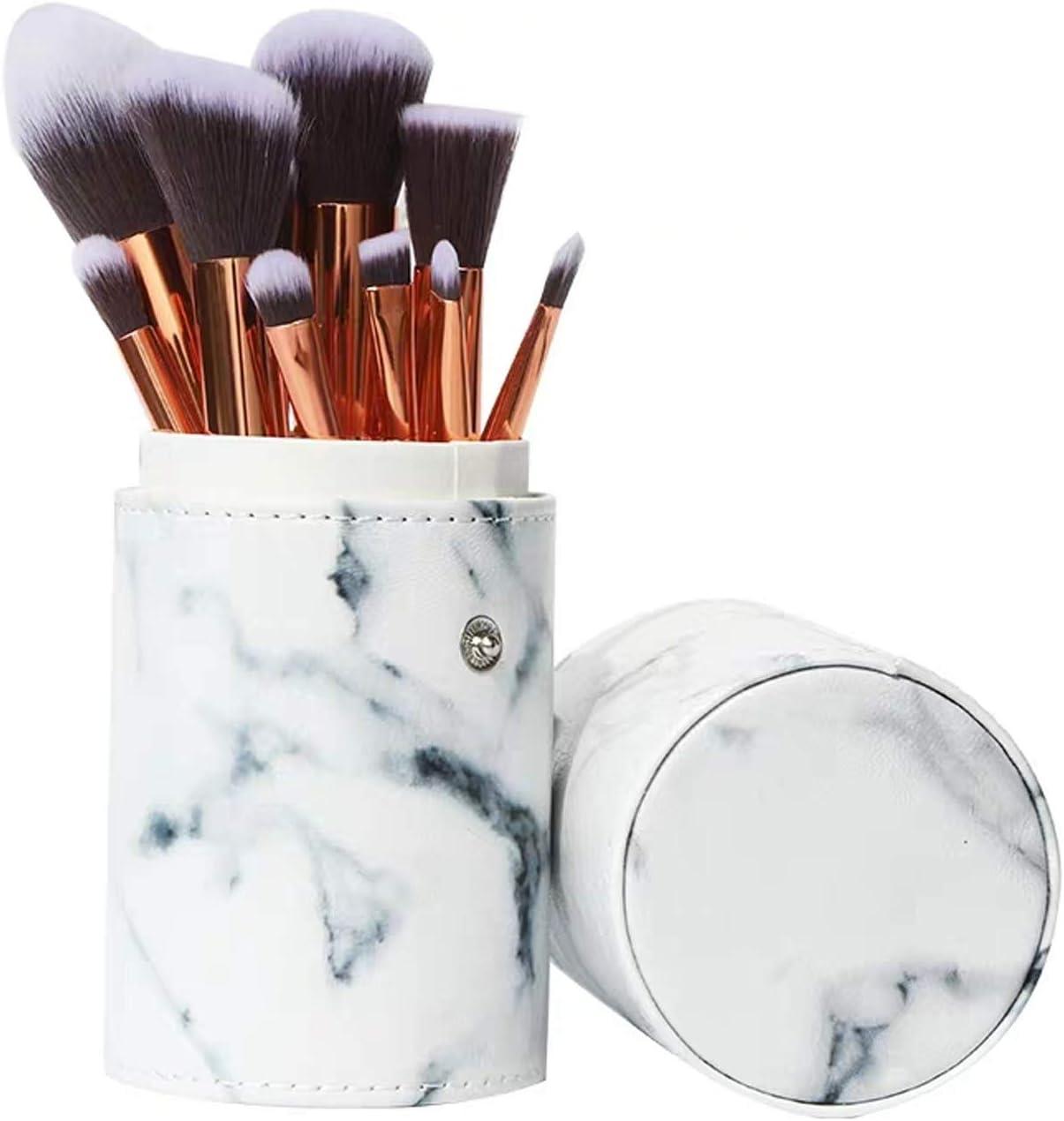 Set de brochas de maquillaje profesional Ruesious 10 piezas Pinceles de maquillaje Set Premium Synthetic Foundation Brush Blending Face Powder Blush Concealers Kit de pinceles