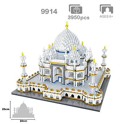 AIYA Mundialmente Famosa Arquitectura India Taj Mahal Palace 3D Modelo Diamante Mini DIY Micro construcción Nano Bloques Ladrillos Juguete para niños para niño y niña Regalo de cumpleaños: Deportes y aire libre