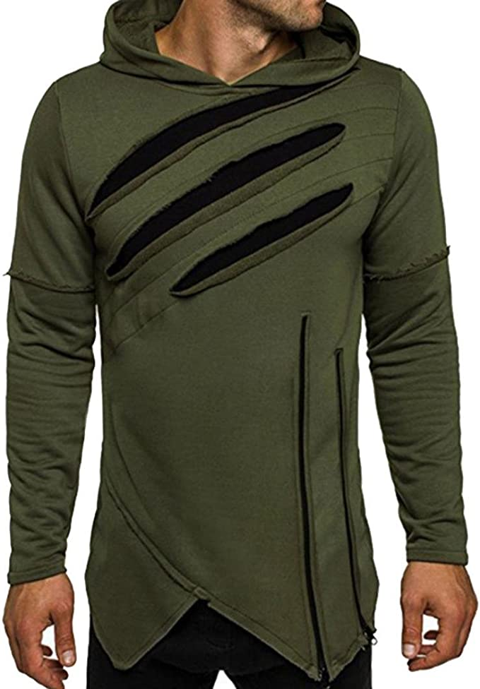 Herren Lange Ärmel Hoodie mit Kapuze Sweatshirt Tops Jacken Mantel Outwear
