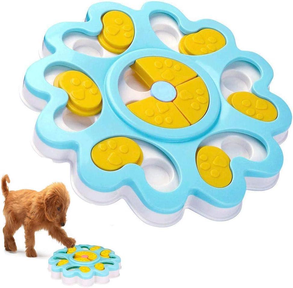 Juguete de puzle para perro, dispensador de premios interactivo, rompecabezas para perro, alimentador de juegos de entrenamiento para perros con antideslizante, mejora el IQ comedero lento para
