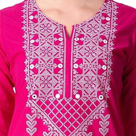 Women Bollywood Designer Embroidered Straight Kurta By Dream Angel Fashion