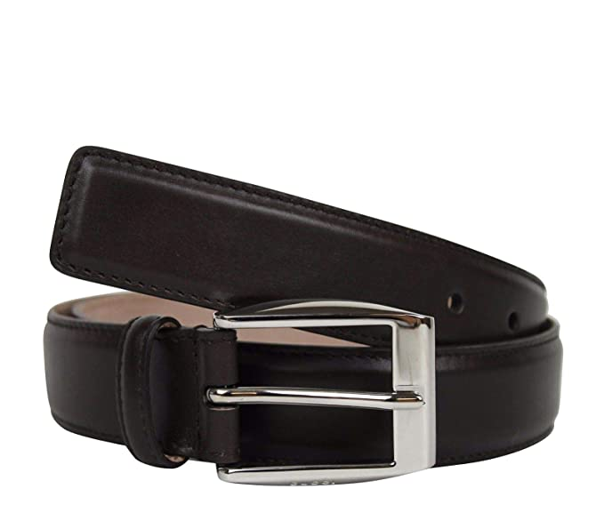 586101336d5 New Gucci Men s Classic Dark Brown Leather Belt with Square Buckle 336831  2140 (105