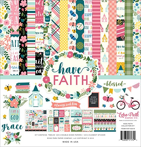 Echo Park Paper Company HAF152016 Have Have Faith Collection Kit, Purple, Pink, Mint Green, Teal, Coral from Echo Park Paper Company