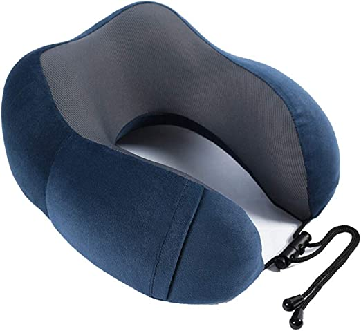 Travel Pillows 360-Degree Raised Side Head Neck Supports Airplanes Memory Foam Neck Pillows for Travel Traveling Office Blue Blue Car