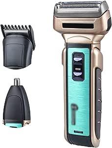 Jiabei 3 en 1 Reciprocante Navaja de afeitar eléctrica recargable ...
