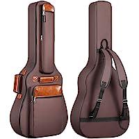 CAHAYA Funda de Guitarra Universal Acolchada (12mm) Estuches para Guitarra Acústica y Clásica (Color Marrón)