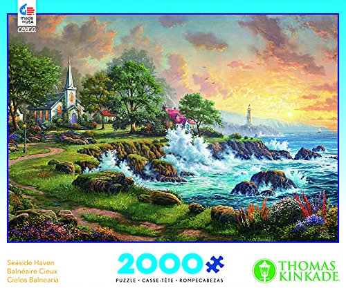 Ceaco Seaside Haven Puzzle By Thomas Kinkade Puzzle (2000 Pieces)