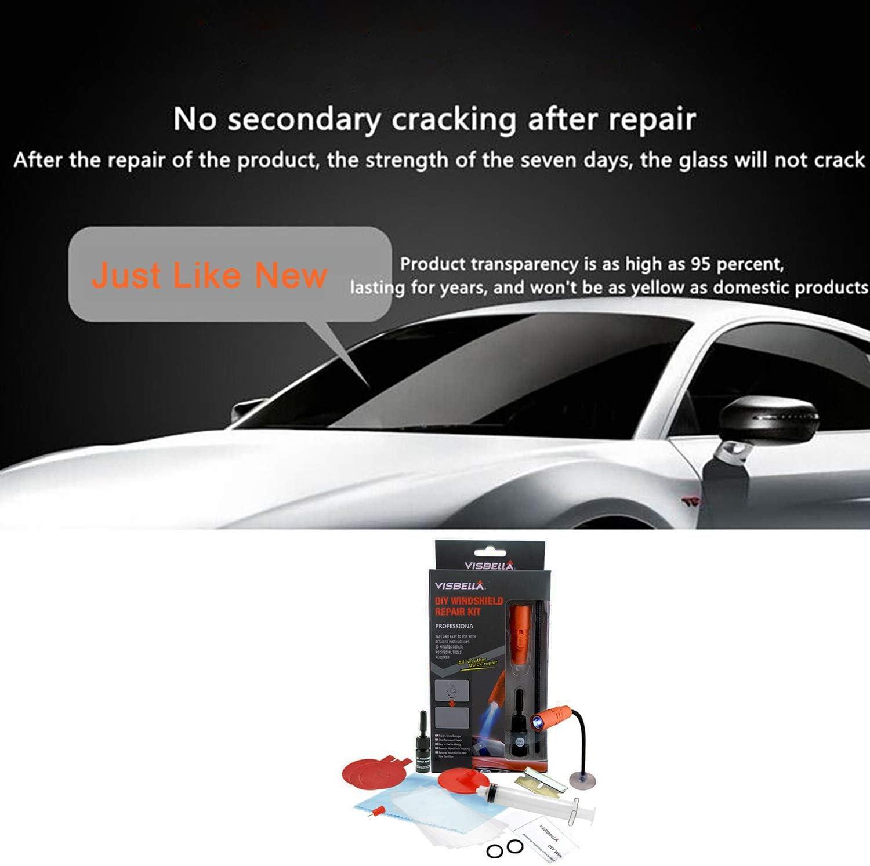 with UV Curing Light Fast Repair DIY Windshield Repair Kit