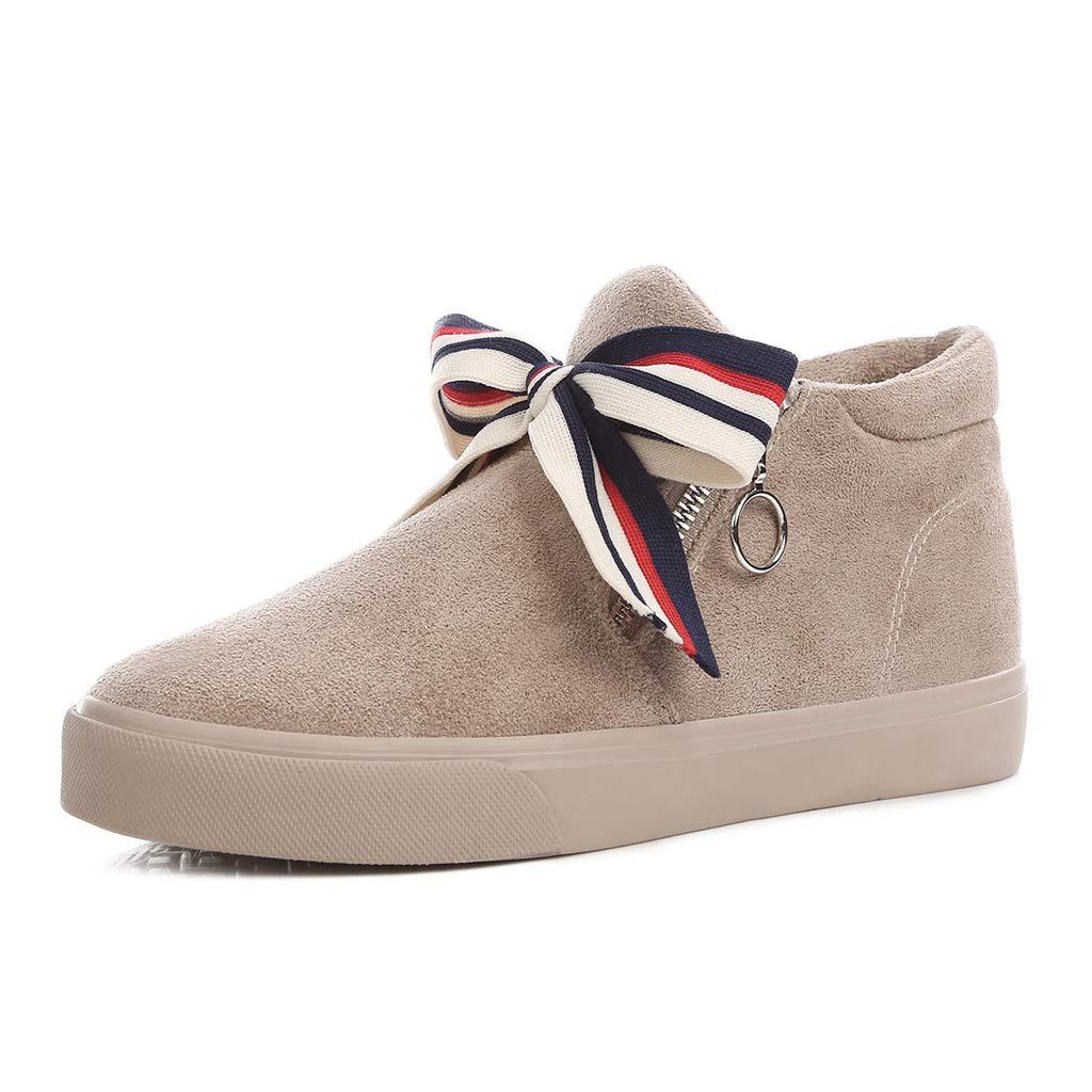 Winter Süße Mädchen Rohr Baumwolle Schuhe Lässig Warme Schneeschuhe Student Flache Kurze Stiefel Braun (Farbe   braun größe   36)
