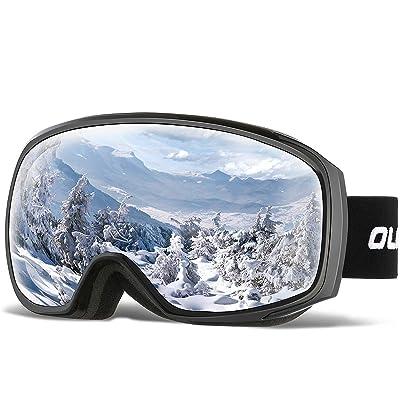 BLACK Adult Windproof Skiing Snowmobile Snowboard GOGGLES UV Snow Ski Glasses