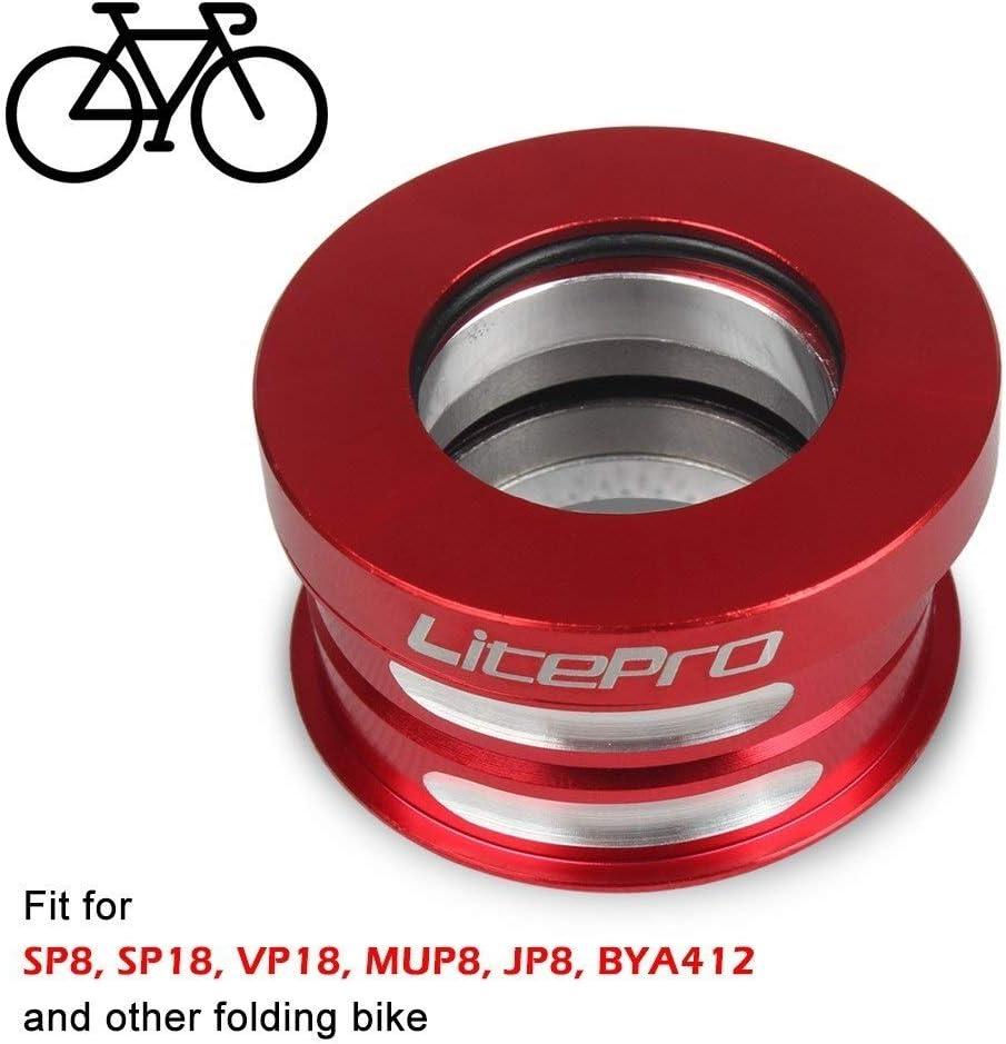 LNNUKc-BIKE 44mm Aluminio Bicicleta Plegable Auriculares Interna sellada Bicicletas Teniendo,un Dia Feliz (Color : Rojo): Amazon.es: Hogar