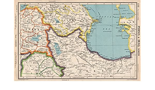 Amazon.com: SOUTHERN CAUCASUS. Persia(Iran)& Iraq, North. Azerbaijan ...
