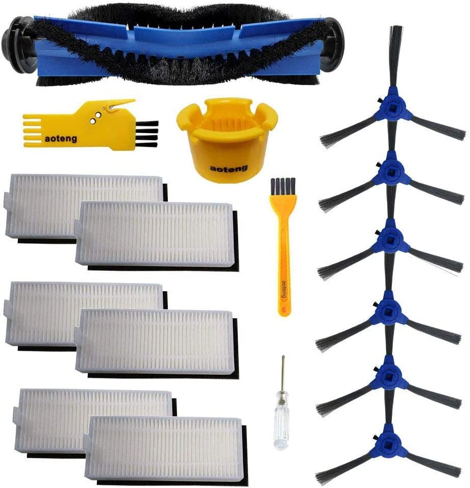 aoteng Accessory Kit for Eufy RoboVac 11S, RoboVac 30, RoboVac 30C, RoboVac 15T, RoboVac 15C, RoboVac 12, RoboVac 35C Vacuum Filters, Side Brushes,Rolling Brushes Replacement Parts