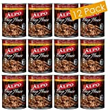 Purina ALPO Wet Canned Dog Food, Chop House Beef Tenderloin Flavor in Gourmet Gravy, Canned Food, Full Of Protein, Hearty, Healthy and Tasty Food For Your Pet, 13.2 Ounces (12-Pack)