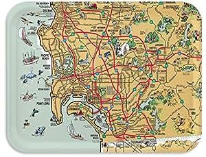 "San Diego Souvenir Map Tray / TV Dinner Tray, Decorative Tray, 17""x 13"" San Francisco Tray, 100+ different designs"