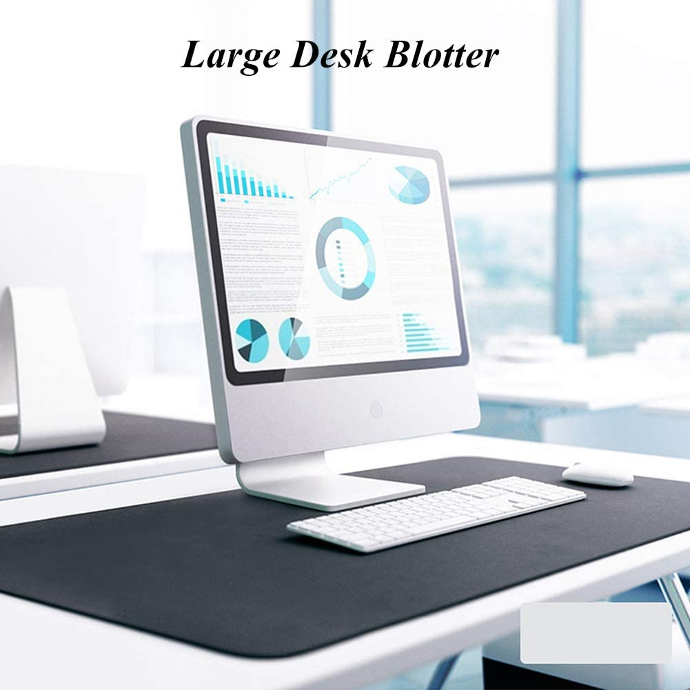 47x24inch XUELIAIKEE Multifunctional Desk Pad Protector Ultra Thin Pu Leather Mouse Pad Anti Slip Office Desk Mat,Dual Sided Waterproof Desk Blotter Writing Mat-red Wine 120x60cm
