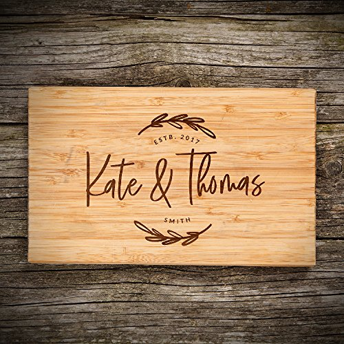 P Lab Personalized Cutting Board, Custom Engraved Natural Wood Cutting Board, Christmas Gift, Wedding Gift, Anniversary Gift, Housewarming, Corporate Gift (11