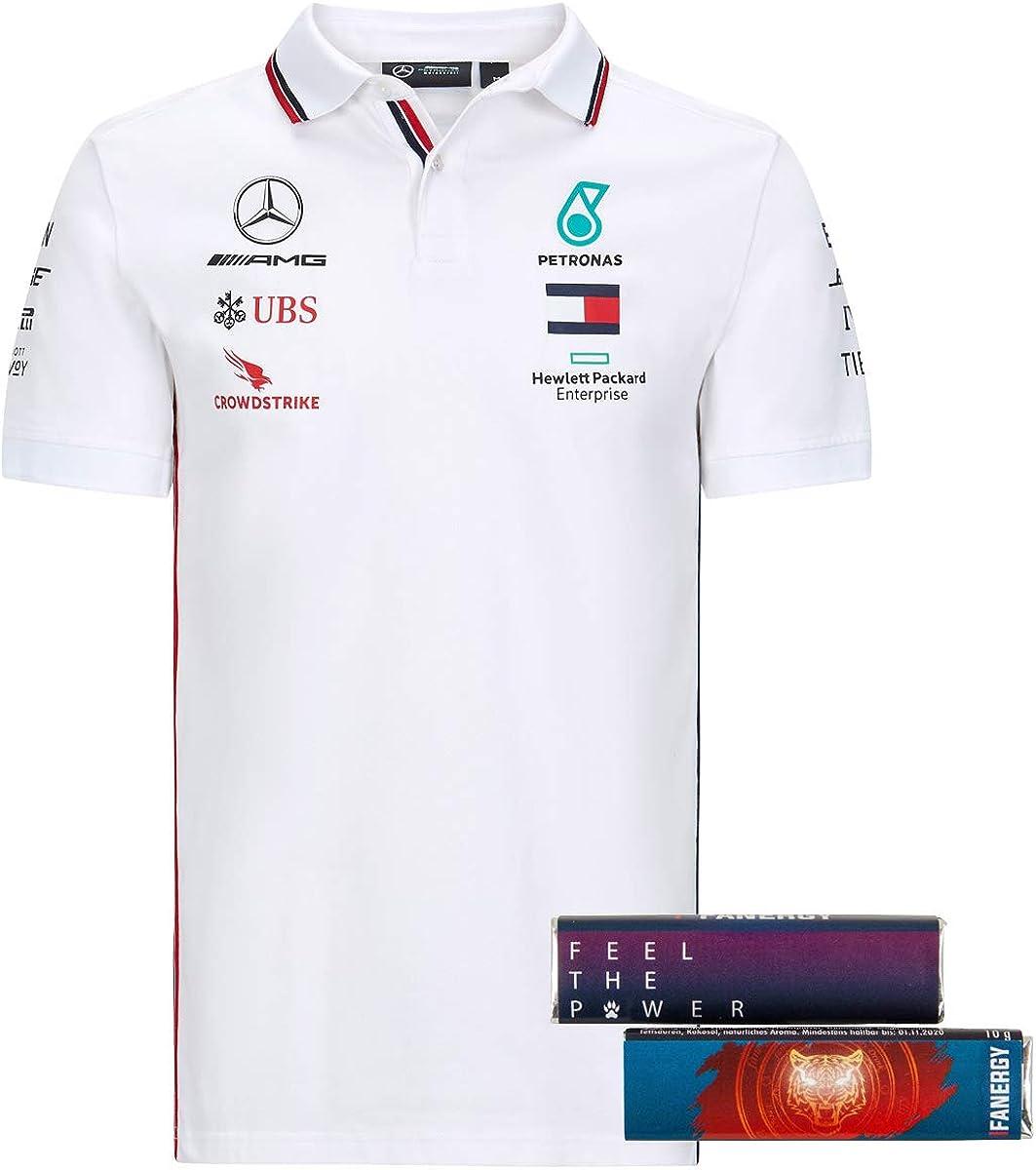 4X FANERGY Traubenzucker MERCEDES AMG PETRONAS Team T-Shirt Oberteil Shirt 2020 wei/ß