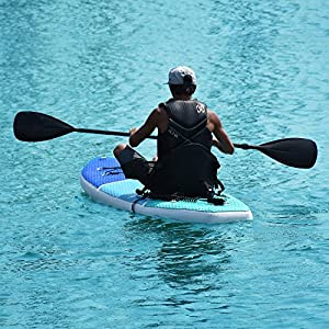 "Zupapa All in One Inflatable Stand Up Paddle Board 6"" Thick 10' Non-Slip Deck 