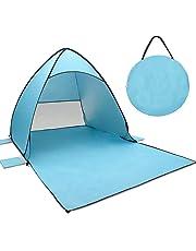 Tecare Pop Up Tent, Beach Tent Kids Play Garden/Backpacking/Hiking/Lightweight/Easy Setup Outdoors Anti-UV 50+ Sun Shelters