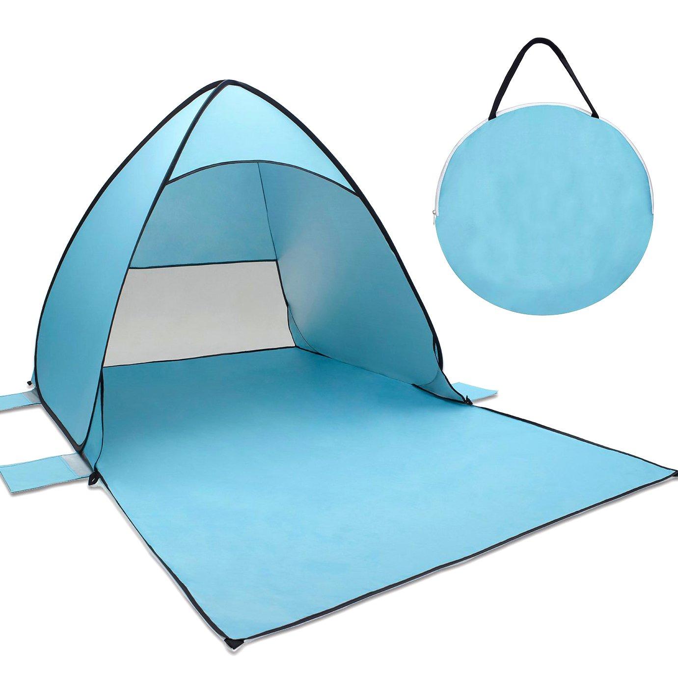 Tecare Pop Up Tent Anti-UV 50+ pour 3-4 personnes / Camping / Backpacking / Randonnée / Léger / Facile à installer Outdoor Beach Tent Shelter 2-3 person) big-tent001