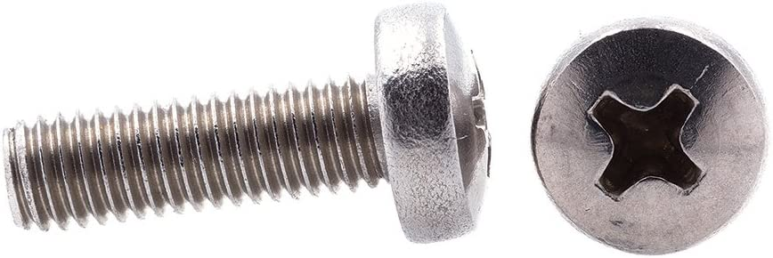 M4-0.7 X 50MM 10-Pack Prime-Line 9131290 Machine Screws Phillips Drive Grade A2-70 Stainless Steel Metric Pan Head