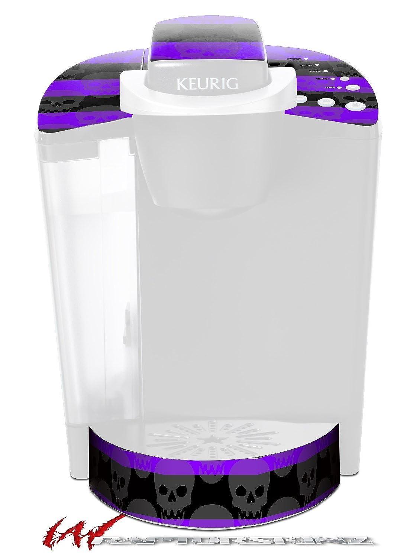 スカルストライプパープル – デカールスタイルビニールスキンFits Keurig k40 Eliteコーヒーメーカー( Keurig Not Included )   B017AKC7ZS