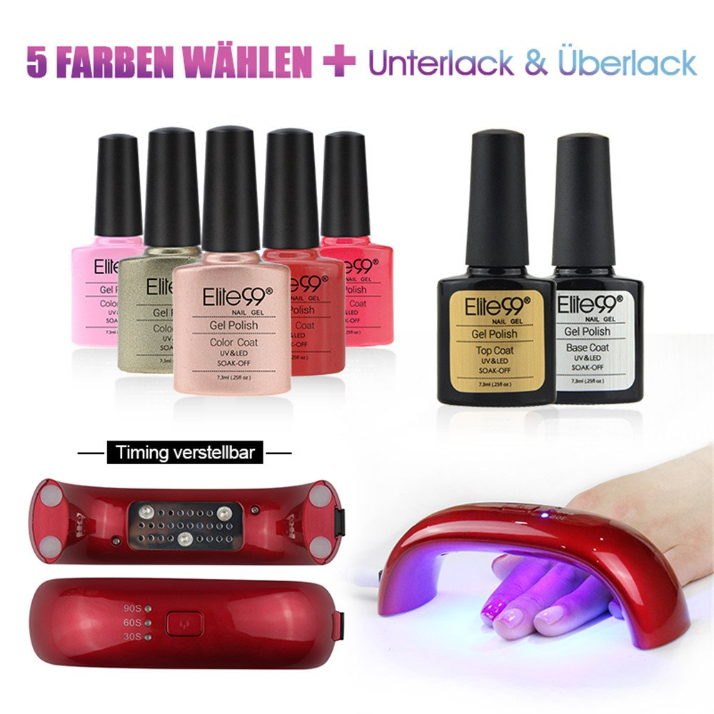 Elite99 Nagellack Set Farblack UV Lampe 5 Farblack Nagelstudio-Sets ...