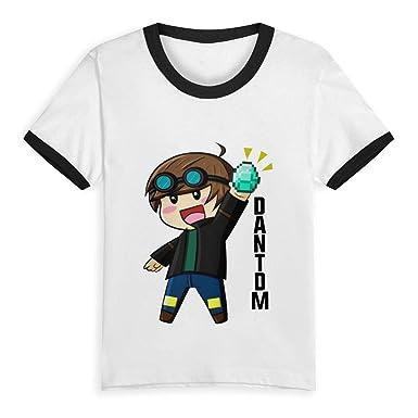 fae5af60d3124 SHENGN Children's Customized \r\n Cool DANTDM Minecraft Summertime Short  Sleeves T Shirt Black