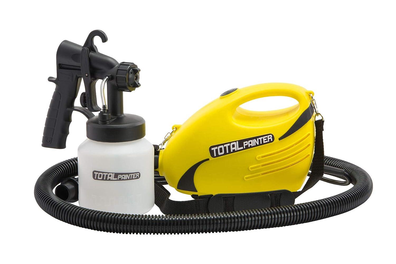Pistolet à peinture professionnel Total Spider Paint Sprayer pour toutes les surfaces - intérieur et extérieur - Capacité de 800 ml (Total Painter) Best Direct