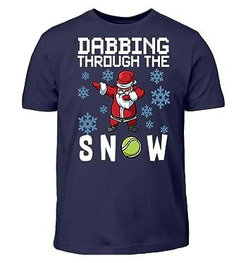 Frohe Weihnachten Sprüche Für Kinder.Dabbing Through The Snow Tennis Spieler Sport Frohe Weihnachten
