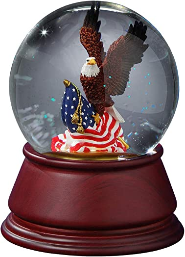 The San Francisco Music Box Company American Eagle Musical Water Globe