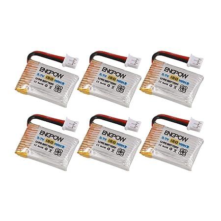 Kongqiabona 6PCS Engpow 3.7V 150mAh 1S Rechargeable Lipo Battery ...