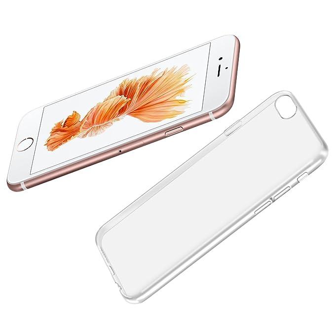 32 opinioni per zenmo Custodia iPhone 6S, Soft Gel TPU Transparente Case Cover per iPhone 6/6S