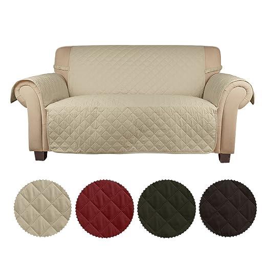 KINLO Funda de sofá Cubre sofá 2 plazas para mascotas -- Anti-rascado, anti-incrustante, proteger el sofá
