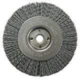Weiler 31114 Narrow Face Nylox Wheel, 4'', 0.35/180SC Crimped Fill, 1/2''-3/8'' Arbor Hole (Pack of 2)