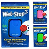 Wet-Stop3 Bedwetting Enuresis Alarm System with Sound and Vibration - Blue