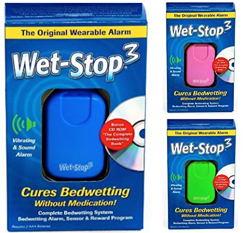 Wet-Stop3 Blue Bedwetting Enuresis Alarm with Loud Sound and Strong Vibration for Boys or Girls, Proven Solutions for Bedwetters