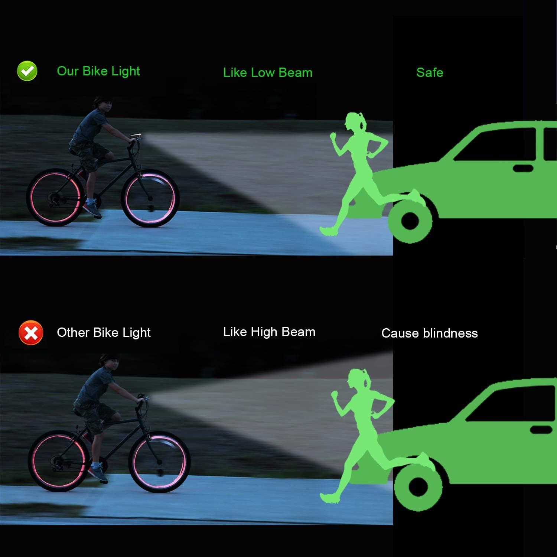 Antimi Juego de luces LED para bicicleta con 2 modos de luz ...
