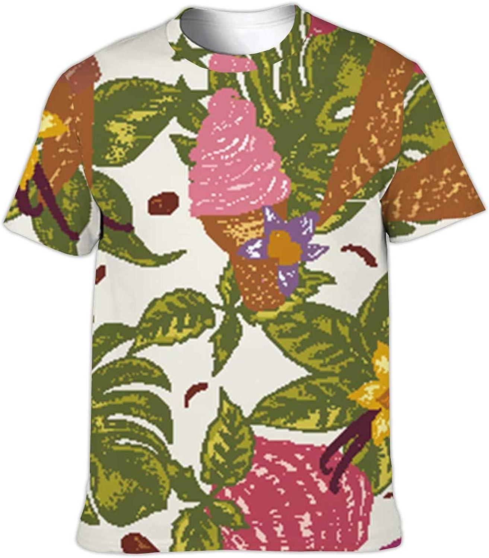 Fish Neutral Contour Seamless Pattern,Funny Humor T-Shirt Cotton T-Shirt for Men/Women S