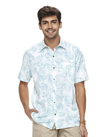 e807dc3b692 Van Heusen Men s Classic Fit Oasis Crosshatch Tropical Button-Down Shirt at  Amazon Men s Clothing store
