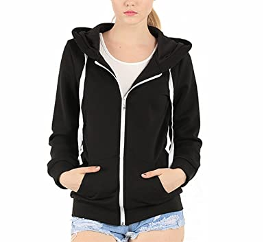 EASYHON Womens Soft Zip Up Fleece Hoodie Sweater Jacket at Amazon ...