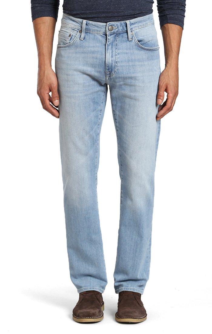 Mavi Men's Zach Straight Leg, Light Tonal Summer 36 X 32