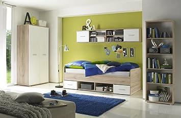 Jugendzimmer Kinderzimmer 4 Tlg Komplettset Kleiderschrank 2 Trg
