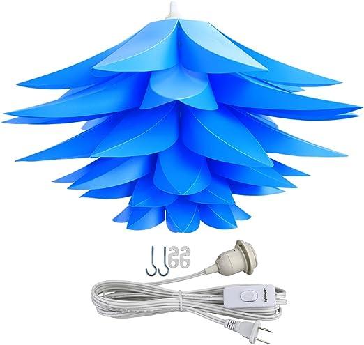 Lightingsky Ceiling Pendant DIY IQ Jigsaw Puzzle Lamp Shade Kit with 15 Feet