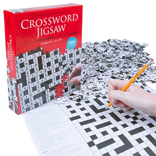 Crossword Jigsaw Puzzle - Solve The Crossword - Finish The 550 Piece Floor Puzzle ( 24'' x 18'' )