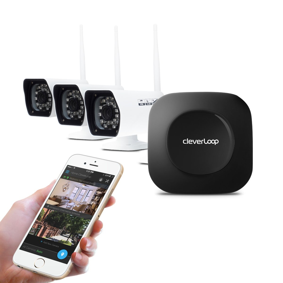 Amazon.com : Cleverloop Smart Wi-Fi Security Camera System With 3 ...