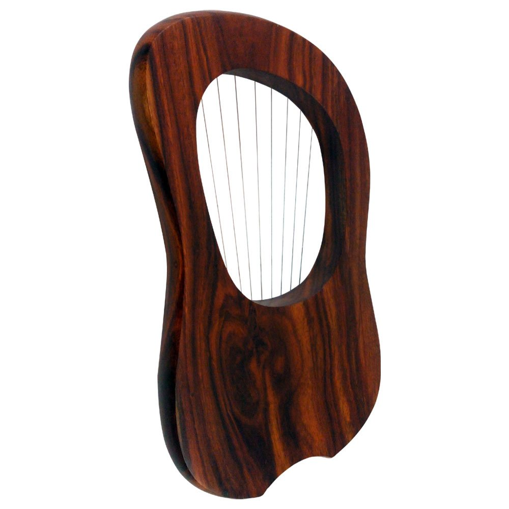 Brand New Lyre Harp 10 String Rose wood with Carrying Case /& Tuning Key